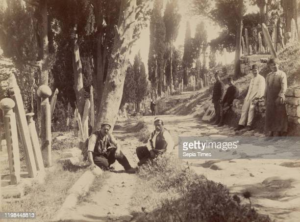 Main Turkish Cemetery of Eyub; Abdullah Freres ; Istanbul, Turkey; 1858 - 1899; Albumen silver print.