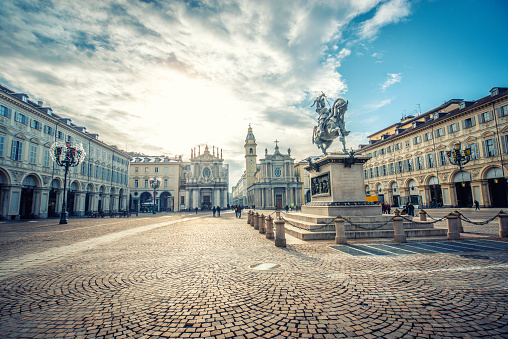 Main View of San Carlo Square and Twin Churches, Turin 898842288
