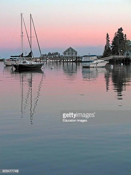 Maine coast Boothbay Harbor.