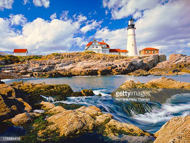 maine coastline - portland maine stock photos and pictures