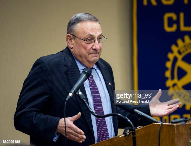 Maine Governor Paul LePage speaks at a Portland Rotary Club luncheon on Friday Nov 4 2016