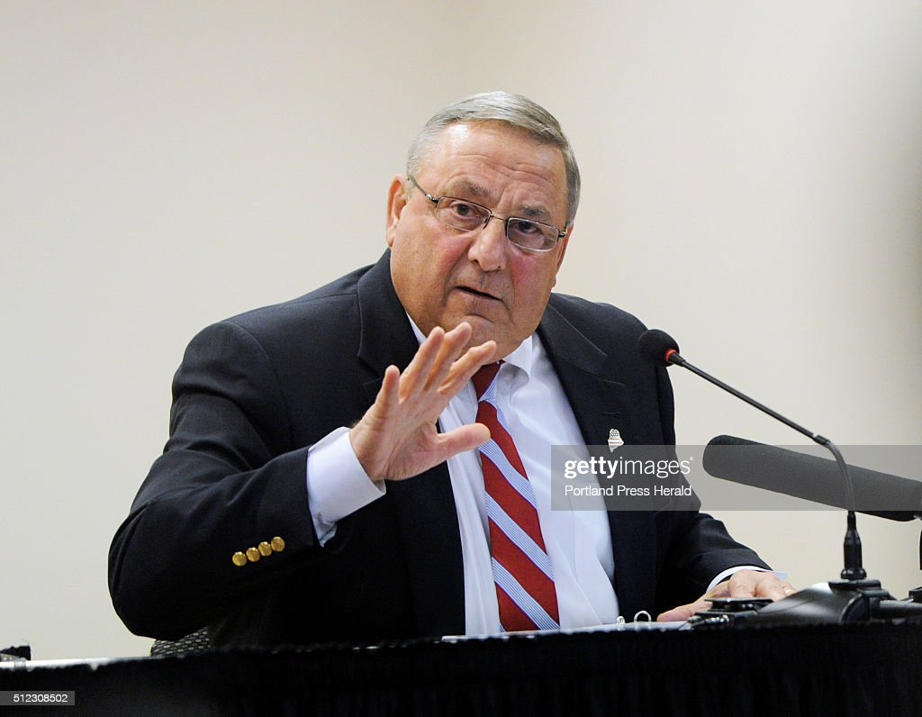 Maine Governor Paul LePage speaks at Central Maine.
