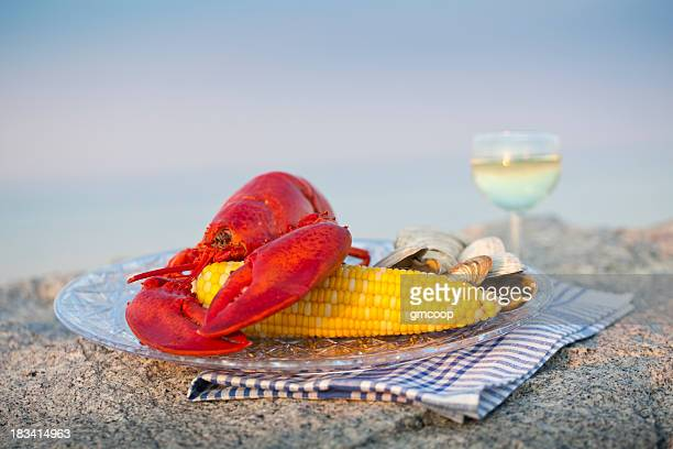 Maine Lobster Dinner with Wine