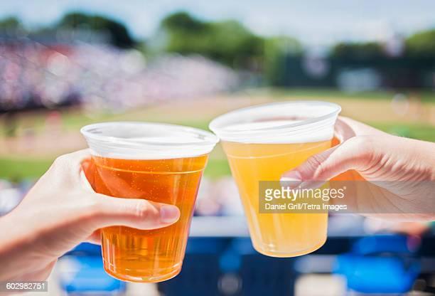 USA, Maine, Portland, Celebratory toast at stadium