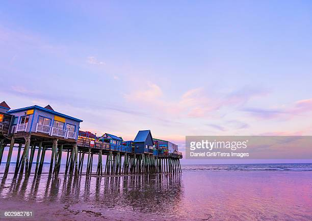 USA, Maine, Portland, Pier at Old Orchard Beach