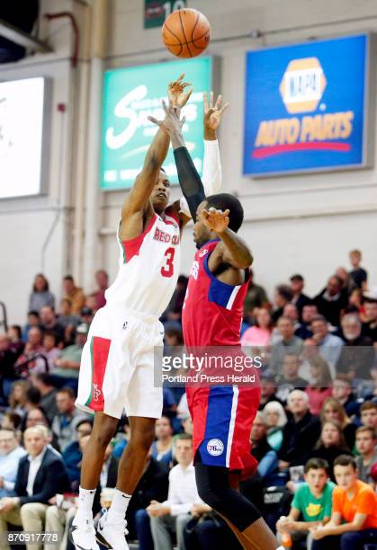 Maine Red Claws vs Delaware 87ers Daniel Dixon of Maine shoots a threepoint shot over Mike Young of Delaware in the third period