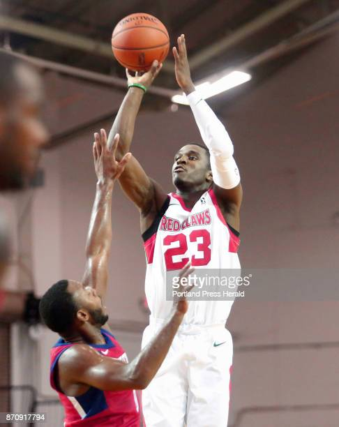 Maine Red Claws vs Delaware 87ers Jabari Bird of Maine pulls up to drain a threepoint shot over Jacob Pullen of Delaware in the second period
