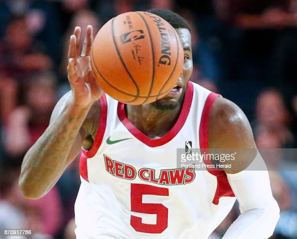 Maine Red Claws vs Delaware 87ers Kadeem Allen of Maine races up the court after making a steal and starting a fast break in the third period