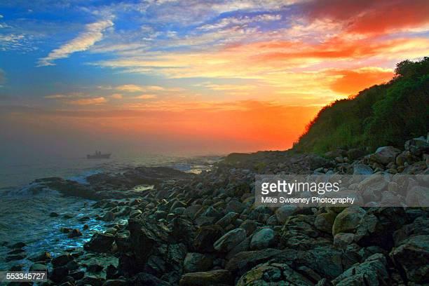 Maine seacoast sunset