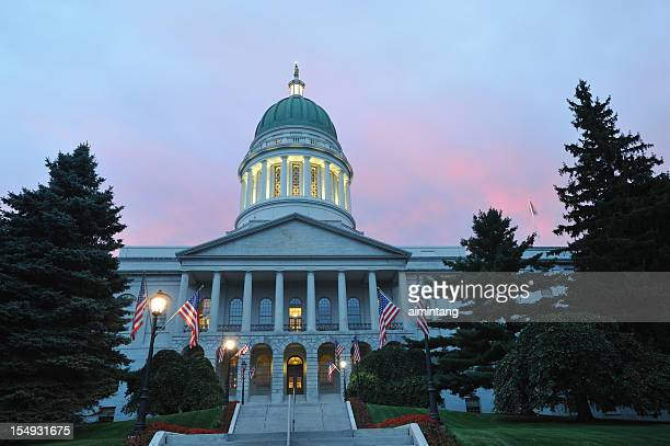 maine state house - augusta maine stock pictures, royalty-free photos & images