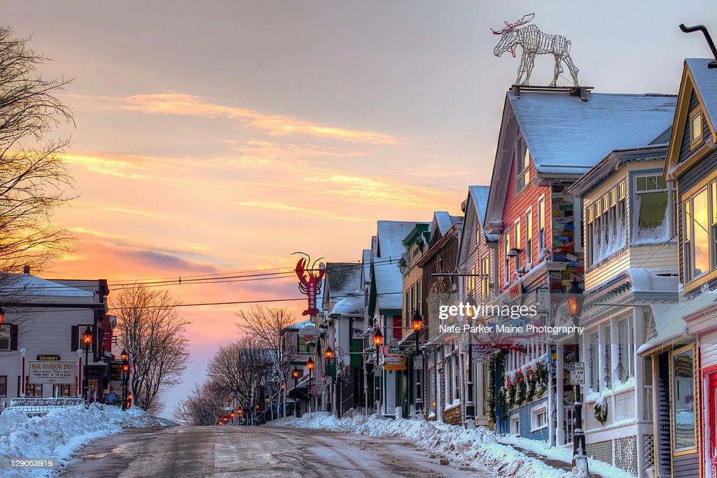 Maine street : Stock Photo