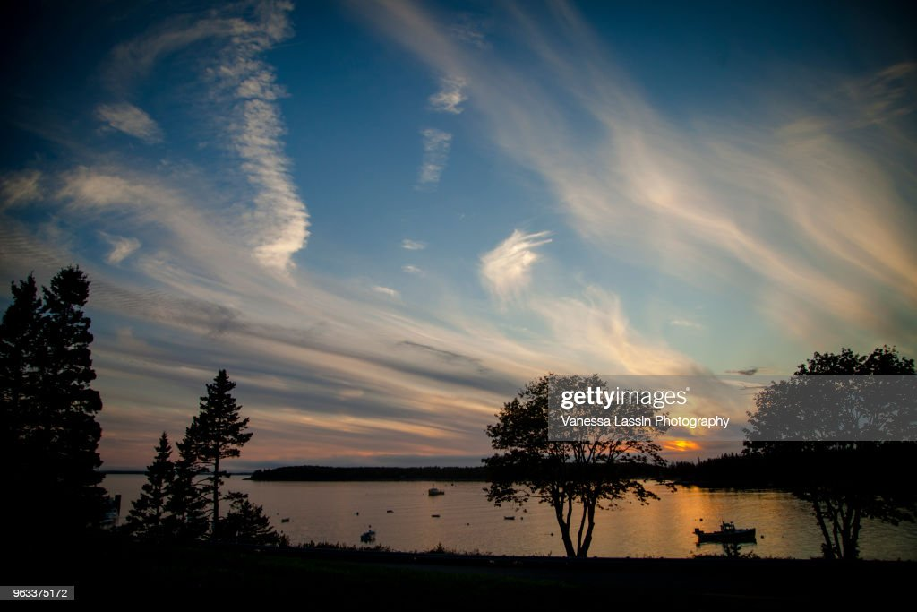 Maine Sunset : Stock Photo
