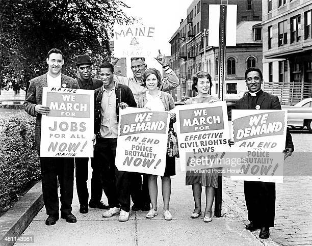Mainers who attended the August 28 1963 march on Washington and hear Martin Luther King's 'I have a dream' speech From left to right Gerald Talbot...
