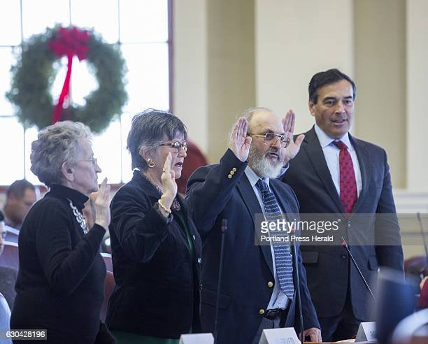 Maine's Electoral College electors cast their votes for President of the United States in Augusta on Monday Dec 19 2016 Maine Electoral College...