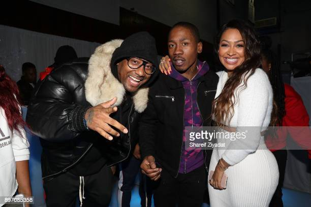 Maino 2 Milly and La La Anthony attend La La Anthony Hosts 'Winter Wonderland' Holiday Charity Event on December 21 2017 in New York City