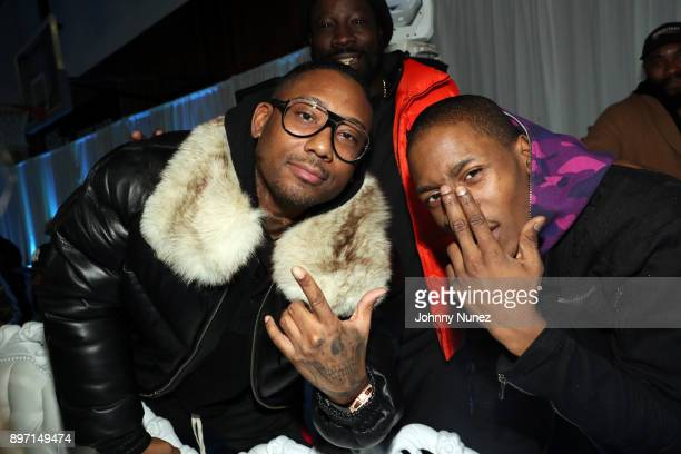 Maino and 2 milly attend The 2017 'Winter Wonderland' Holiday Charity Event hosted by La La Anthony at Gauchos Gym on December 21 2017 in New York...
