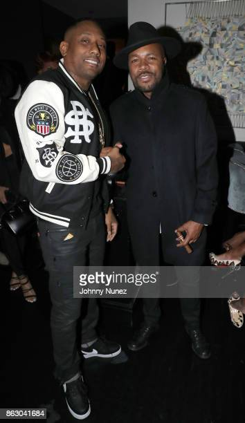 Maino and DNice attend the Maino album release party at Beautique on October 18 2017 in New York City