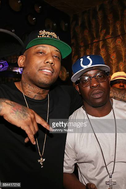 Maino and Uncle Murda backstage at Irving Plaza on May 25 2016 in New York City