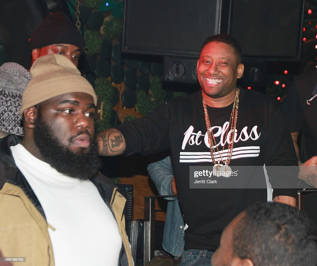 Maino (R) attends Emily B.'s Birthday Party at Greenhouse on February 11, 2014 in New York City.