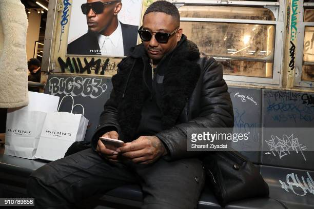 Maino attends Jamie Foxx InStore Shopping Event at Prive Revaux on January 26 2018 in New York City