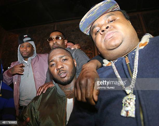 Maino Chi Ali Fred The Godson and Lil Cease attend the Rhymes Over Beats Hip Hop Launch at The Griffin on March 31 2014 in New York City