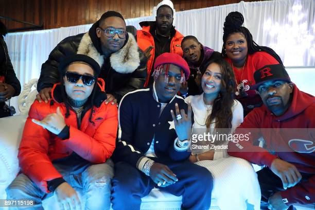 Maino Lil Yachty Young MA 2 Milly Dj CLue Michael Rainey Jr and La La Anthony attend La La Anthony Hosts 'Winter Wonderland' Holiday Charity Event on...