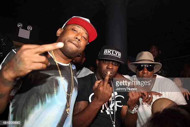 Image contains profanity Maino Uncle Murda and Village celebrate Village's birthday at Haus on August 16 in New York City