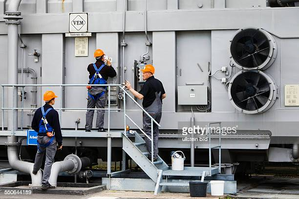 Maintenance work and testing of power transformers in the electrical substation of Vieselbach which is run by the transmission system operator...