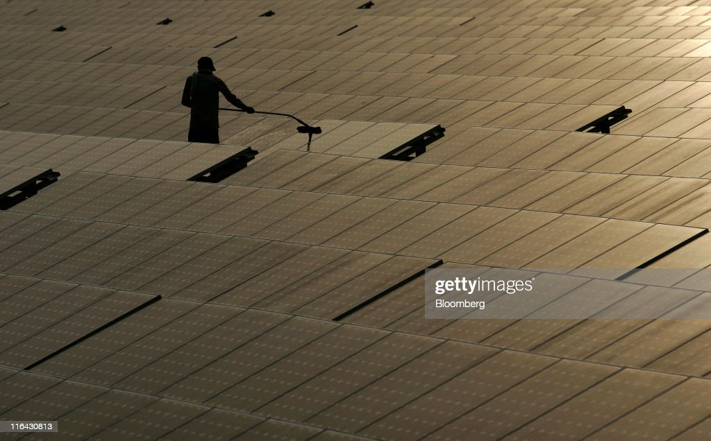 Tour of North Delhi Power's Keshavpuram Solar Power Plant : News Photo