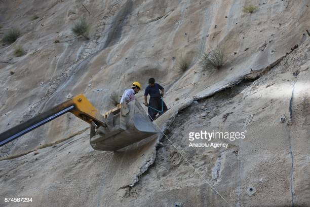 Maintenance works are carried out at Darbandikhan Dam after an earthquake measuring 73 on the Richter scale rocked northern Iraq and Iran on 13th of...