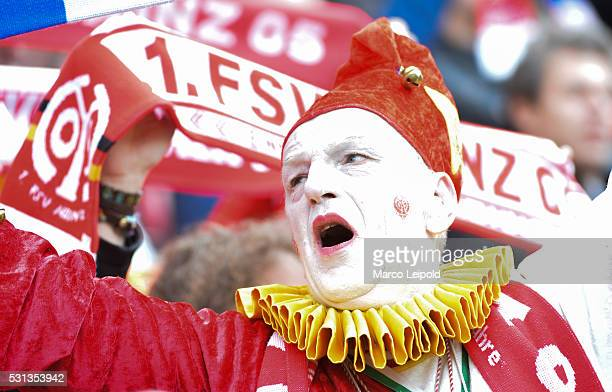 Mainz 05 fan during the game between FSV Mainz 05 and Hertha BSC on may 14 2016 in Mainz Germany