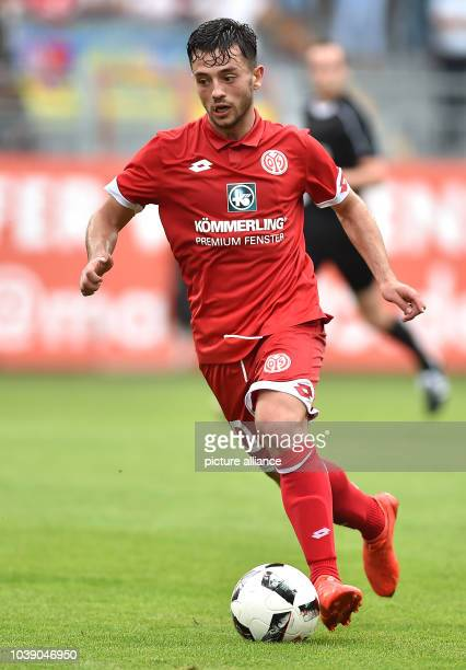 Mainz' Besar Halimi in action during the international soccer friendly match between FSV Mainz 05 and Sevilla FC in MainzGermany 28 July 2016...