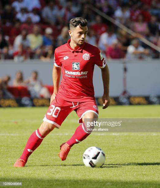 Mainz' Besar Halimi in action during the soccer test match between FSV Mainz 05 and FCLiverpool at Opel Arena in Mainz Germany 7 August 2016 PHOTO...