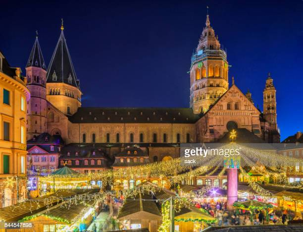 mainz - christmas market - mainz stock pictures, royalty-free photos & images