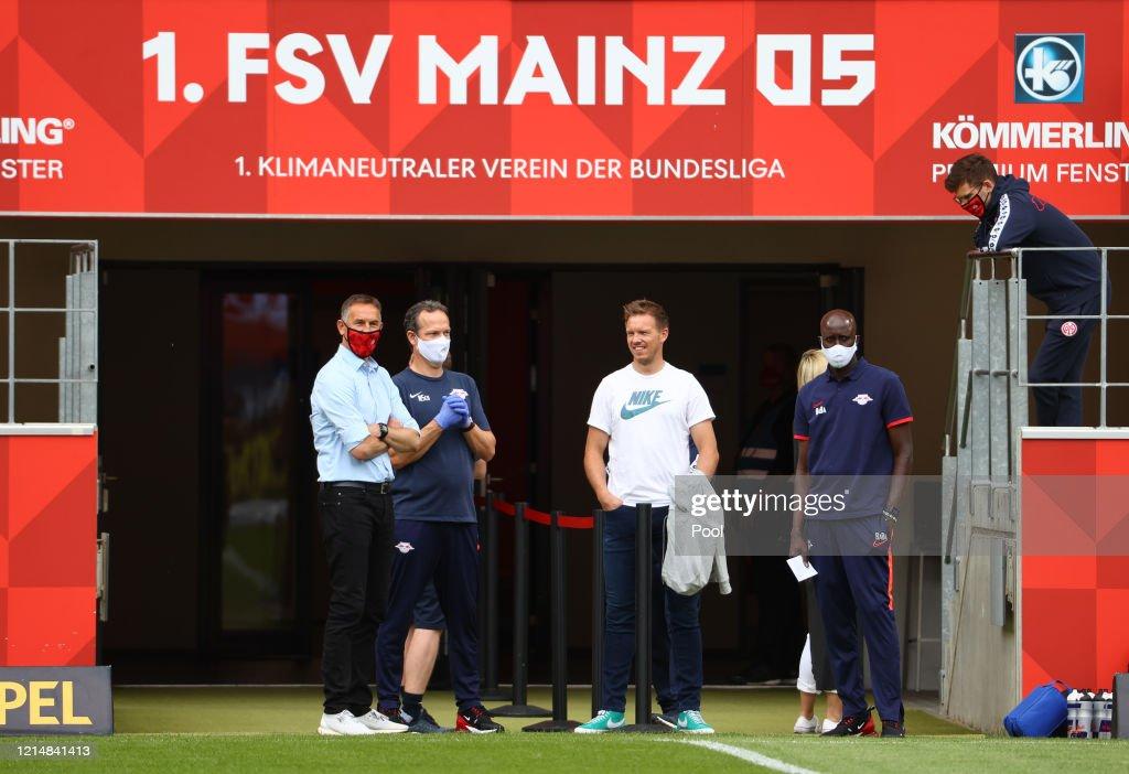 Mainz Coach Achim Beierlorzer And Rb Leipzig Coach Julian Nagelsmann News Photo Getty Images