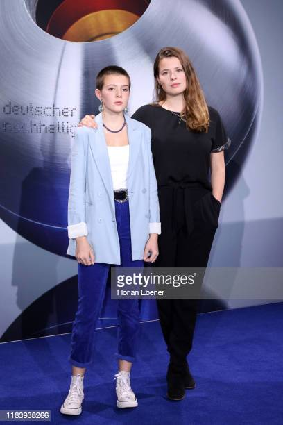 Maira Kellers and Luisa Neubauer attend the German Sustainability Award at Maritim Hotel on November 22, 2019 in Duesseldorf, Germany.