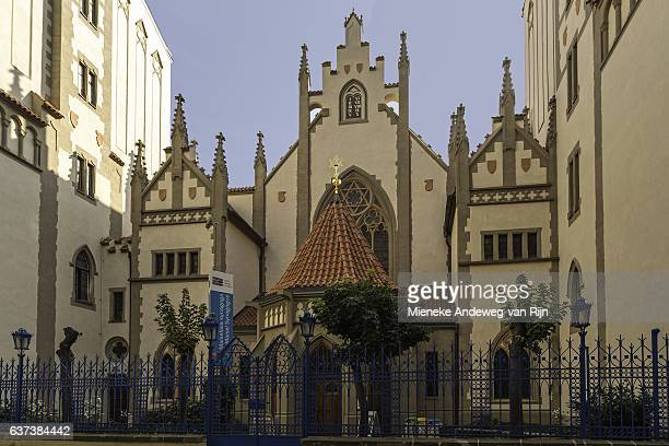 Maisel Synagogue, one of the historical monuments of the former Prague Jewish Ghetto.