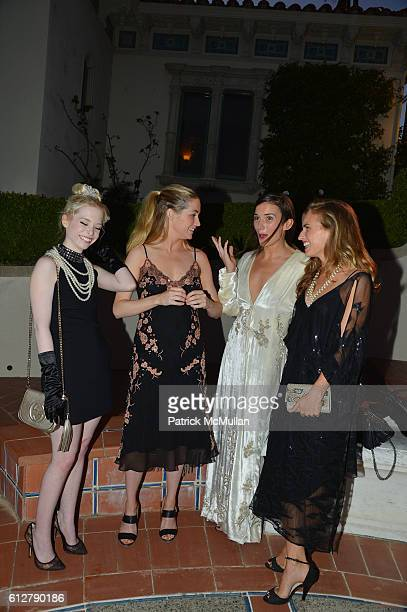 Maisie McInerney Amanda Hearst Kick Kennedy and Ashley Bush attend Hearst Castle Preservation Foundation Annual Benefit Weekend Legends of the Silver...