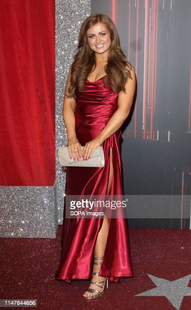 Maisie Smith arrives on the red carpet during The British Soap Awards 2019 at The Lowry Media City Salford in Manchester