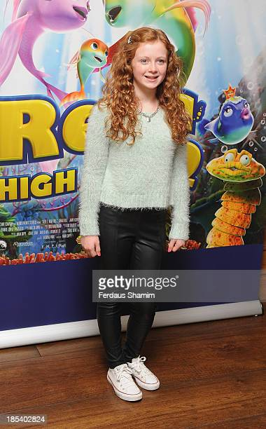Maisie Smith attends a celebrity screening of The Reef 2 The High Tide at Soho Hotel on October 20 2013 in London England