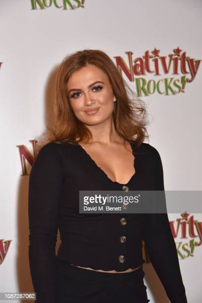 Maisie Smith attends a special gala screening of Nativity Rocks at the Vue West End on November 4 2018 in London England