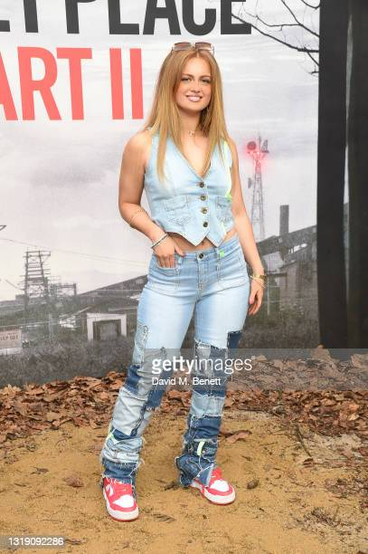 """Maisie Smith attends a special screening of """"A Quiet Place Part II"""" at Cineworld Leicester Square on May 20, 2021 in London, England."""