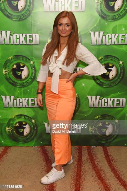 Maisie Smith attends an after party to celebrate 13 years of hit musical Wicked at London's Apollo Victoria Theatre on September 26 2019 in London...