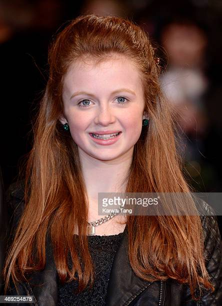 Maisie Smith attends the UK Premiere of A New York Winter's Tale at ODEON Kensington on February 13 2014 in London England