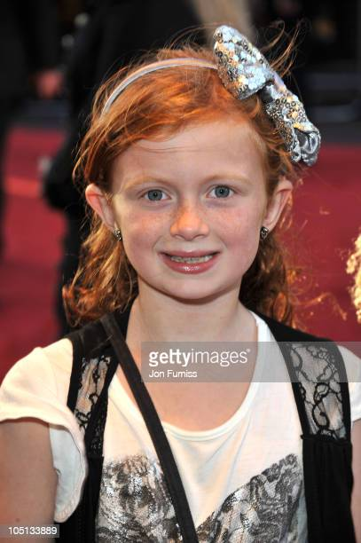 Maisie Smith attends the UK premiere of 'Legend Of The Guardians' at Odeon West End on October 10 2010 in London England