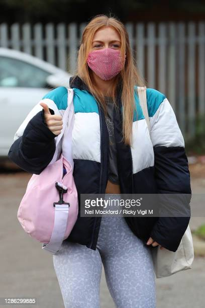 Maisie Smith from Stictly Come Dancing 2020 seen arriving at a rehearsal studio on November 18, 2020 in London, England.