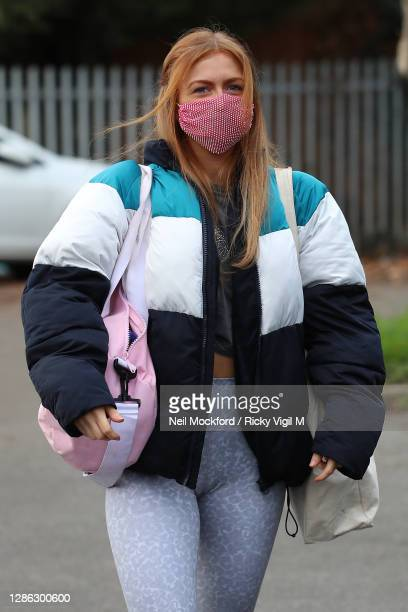 Maisie Smith from Strictly Come Dancing 2020 seen arriving at a rehearsal studio on November 18, 2020 in London, England.