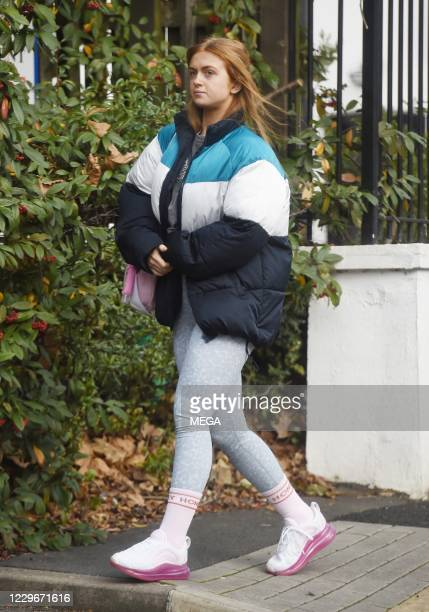 """Maisie Smith is seen arriving at """"Strictly Come Dancing"""" rehearsal on November 18, 2020 in London, England."""