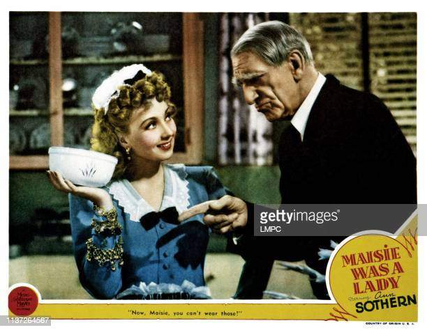 Maisie Was A Lady lobbycard from left Ann Sothern C Aubrey Smith 1941