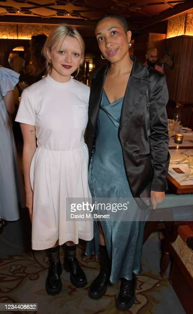Maisie Williams and Anna Fearon attend a private dinner hosted by Maisie Williams at Gymkhana London to celebrate the launch of new company film...